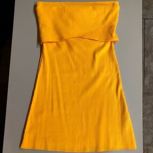 NWT ASOS Petite Yellow Bandeau Bodycon Dress (2)